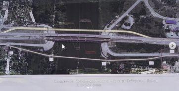 Схема сооружения временного моста через Северский Донец.