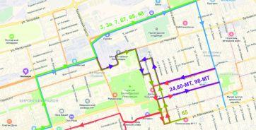 Измененные маршруты автобусов