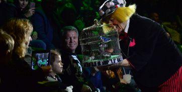На первом представлении новой гастрольной программы Олега Попова. Ростовский цирк, 29 октября, 2016 год.