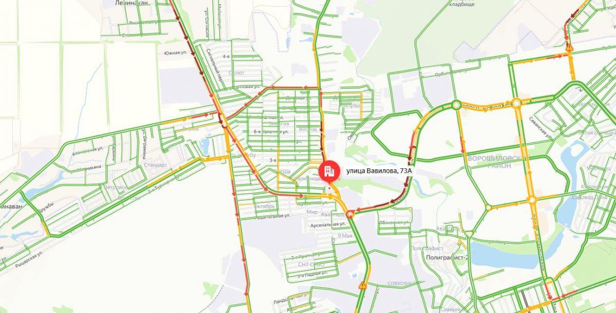 Ситуация на дорогах на 10:18