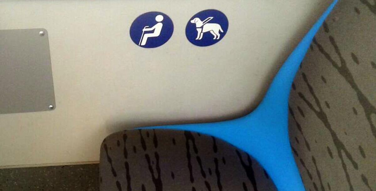 А вот такие наклейки есть в новых ростовских автобусах.