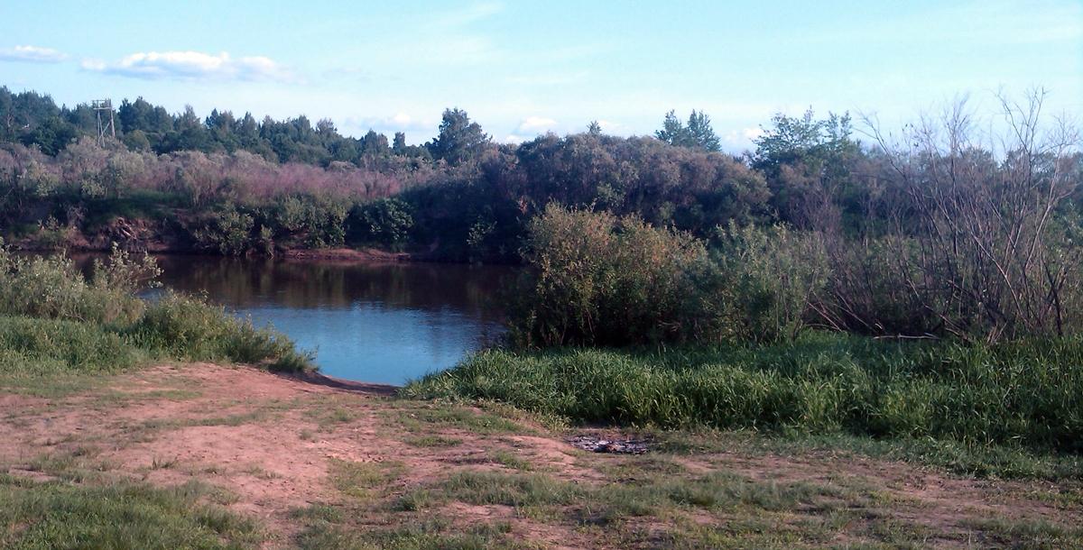 На этом месте на реке Днепр в июле-августе 1941 года проходила Соловьёвская переправа.