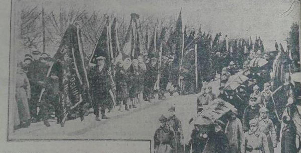 В траурной процессии, которая прошла по улице Энгельса, приняли участие десятки тысяч ростовчан: делегации фабрик и заводов, родственники погибших и др. Её фотография была опубликована в газете «Молот» от 13 февраля 1930 года.