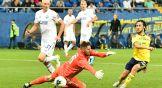 Через секунду Хорен Байрамян забьет гол, но его отменят из-за положения вне игры