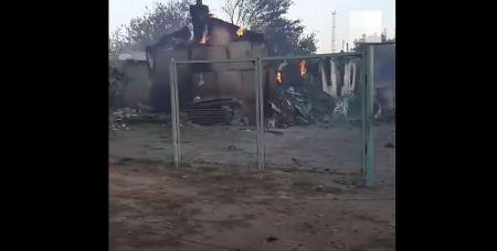 В сети появилось видео из Каменского района - так выглядят последствия пожара.