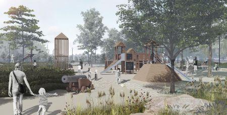 Это проект парка в станице Старочеркасской.