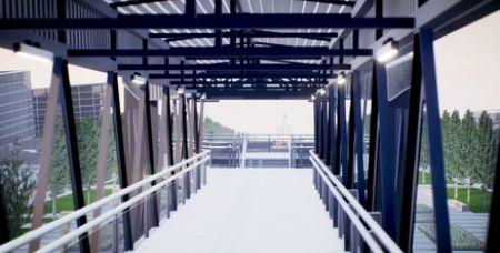 Планируется, что пешеходный мост будет выглядеть вот так.